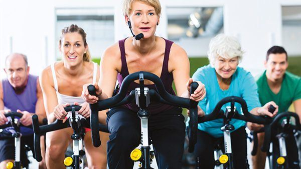 A Spinning class intructor